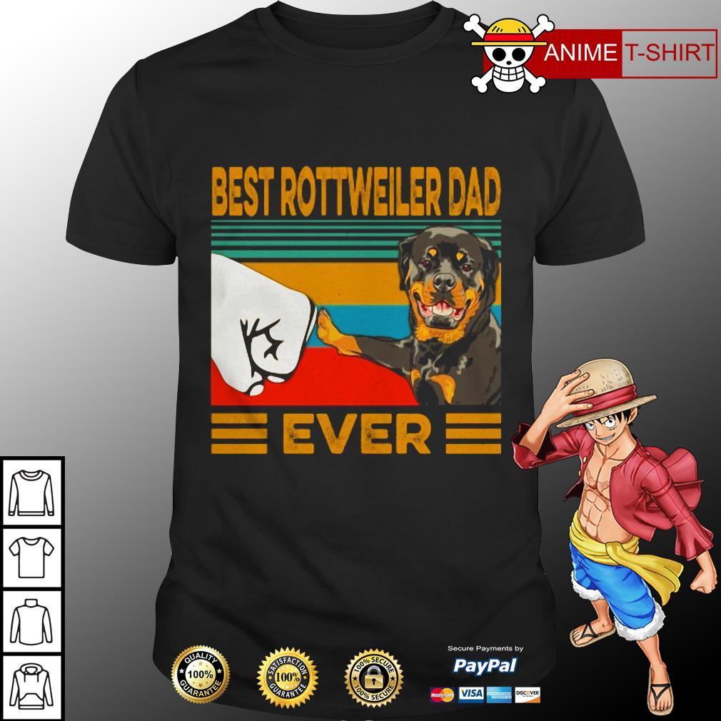 Best Rottweiler dad vintage shirt