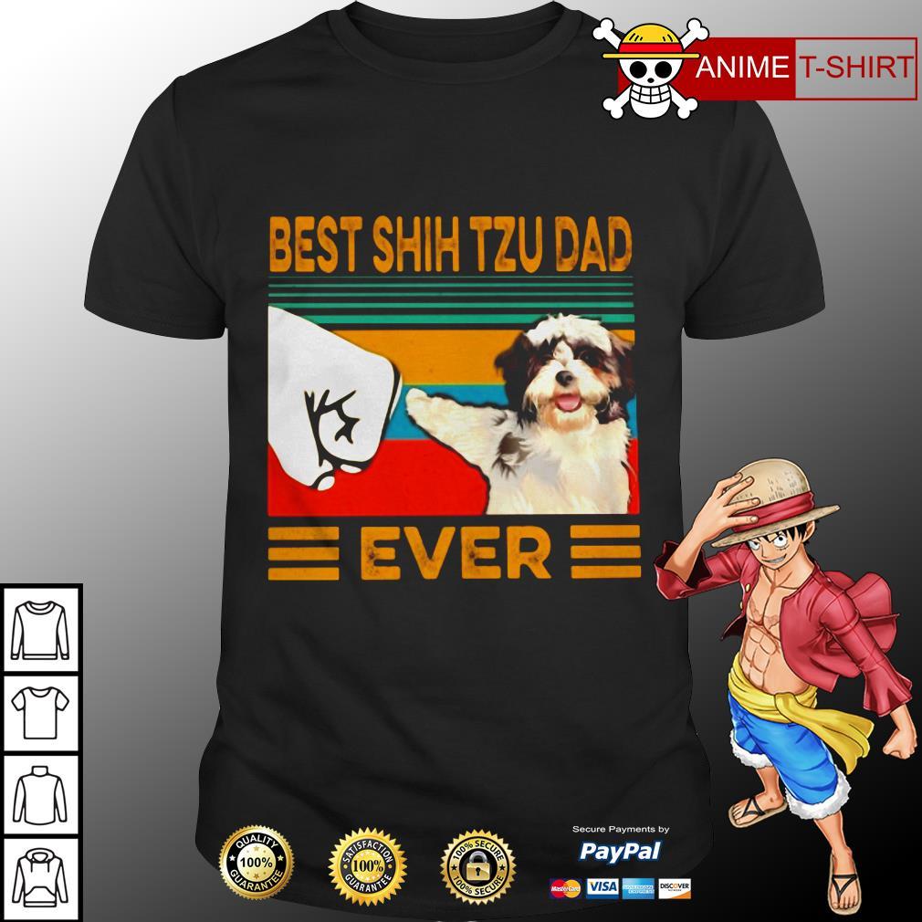 Best shih tzu dad vintage shirt