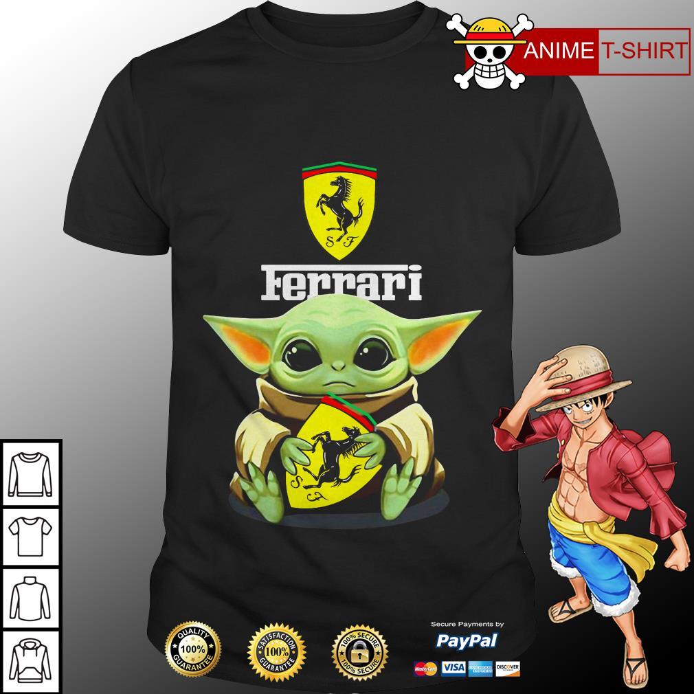Star Wars Baby Yoda hug Ferrari shirt