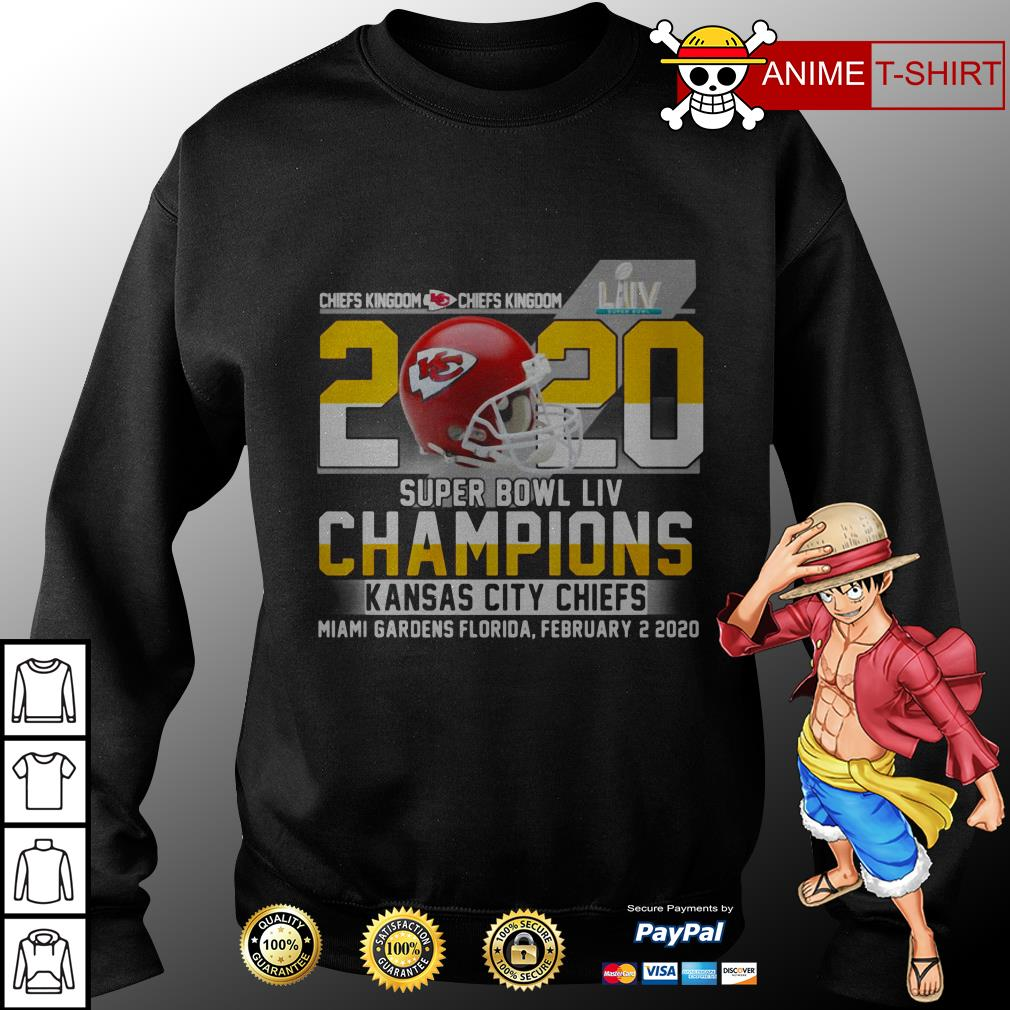Chiefs Kingdom 2020 Super Bowl LIV Champions Kansas City Chiefs Miami Gardens Florida sweater