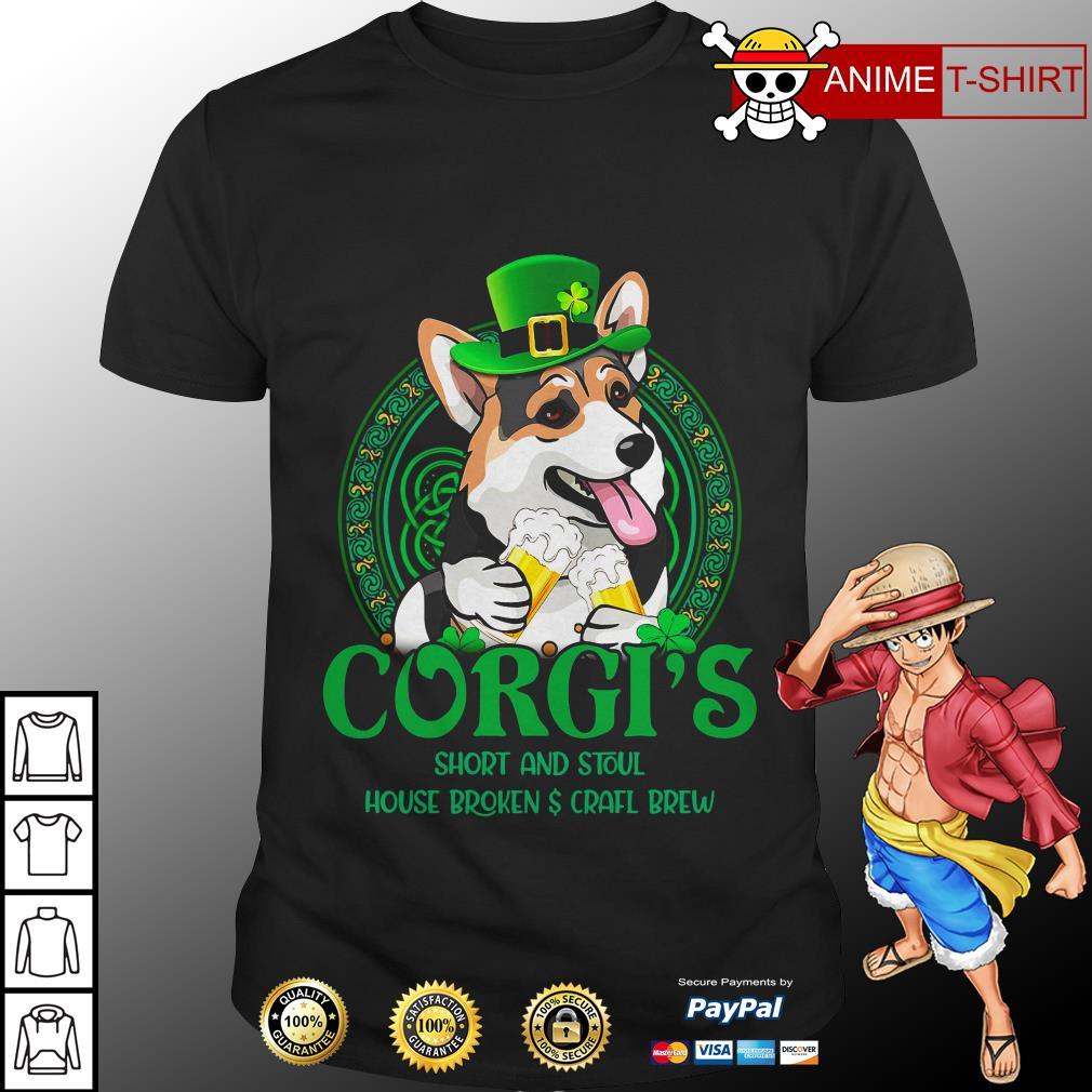Corgi's short and stout house broken craft brew shirt