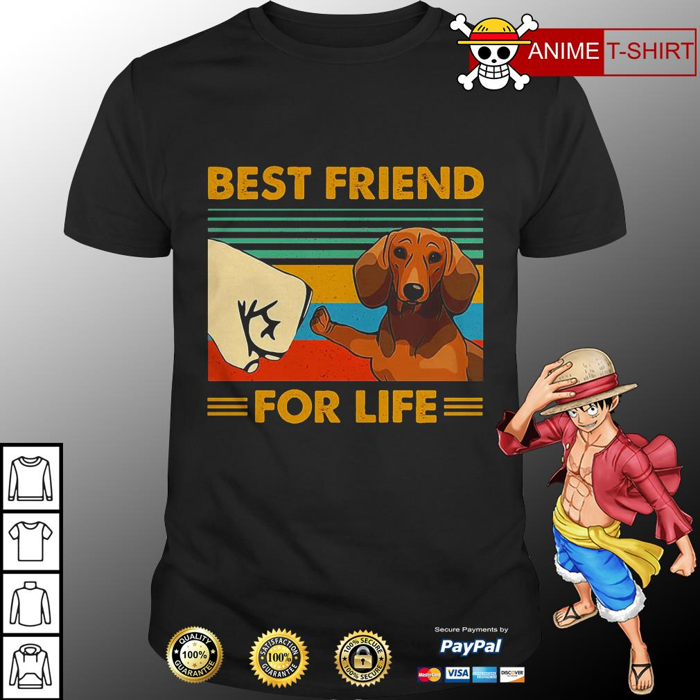 Dachshund Best Friend For Life Vintage Shirt