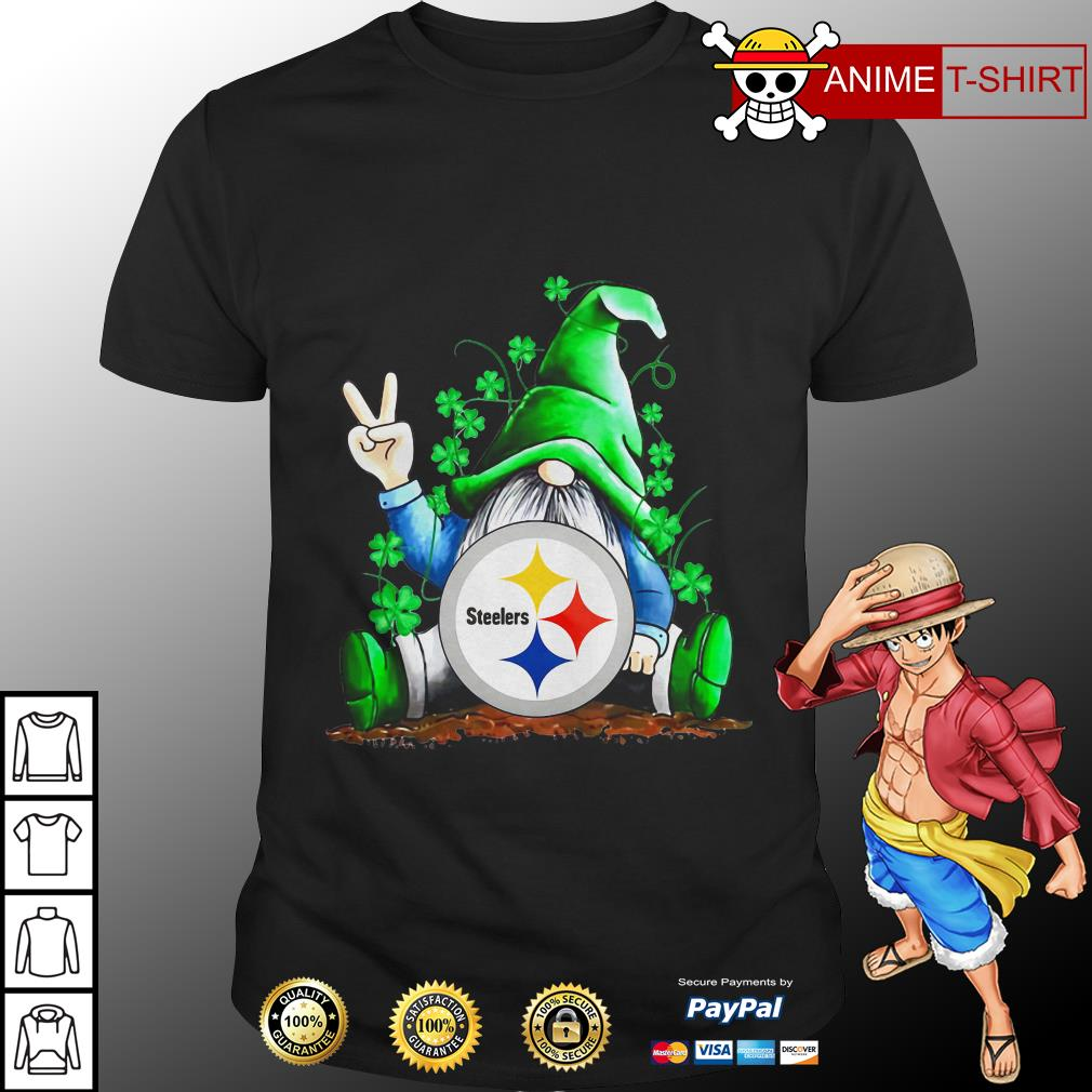 Gnomes Lucky St Patrick's Day Hug Steelers Shirt