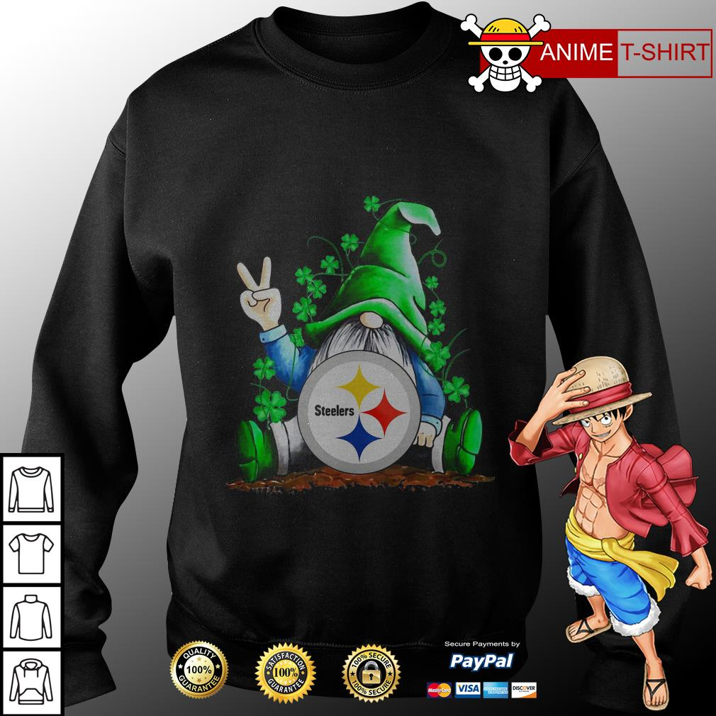 Gnomes Lucky St Patrick's Day Hug Steelers sweater