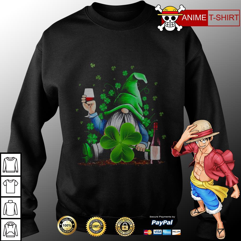 Gnomie Irish drink wine St. Patrick's day sweater