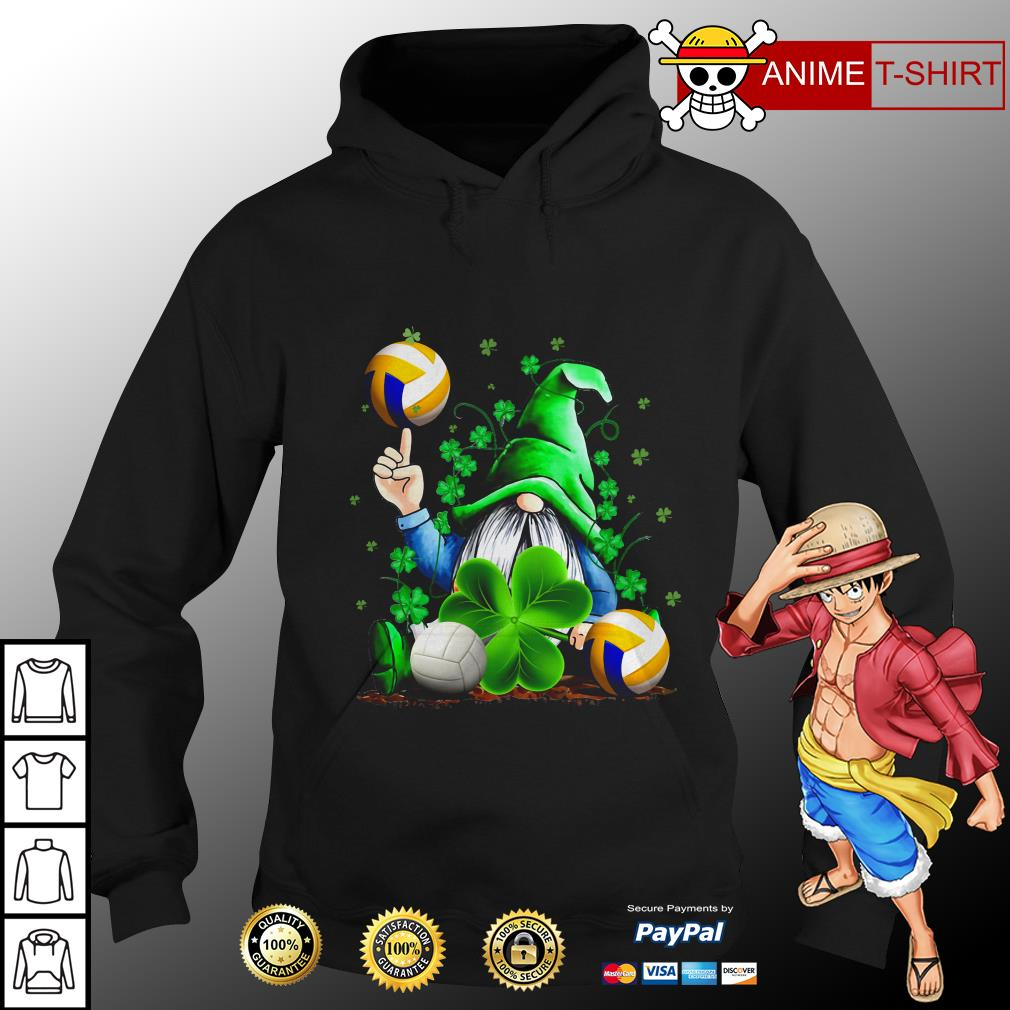 Hippie Gnome Happy St Patrick's Day volleyball hoodie