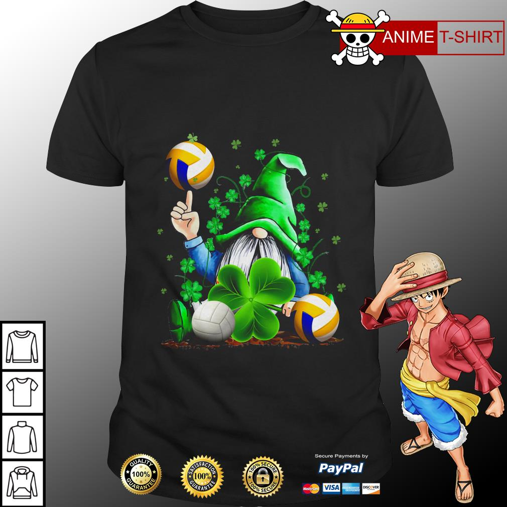 Hippie Gnome Happy St Patrick's Day volleyball Shirt