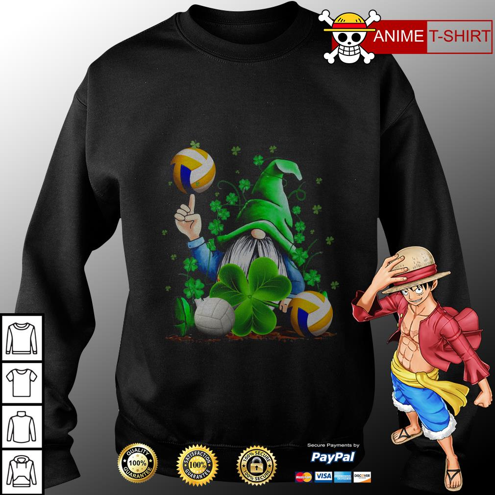 Hippie Gnome Happy St Patrick's Day volleyball sweater