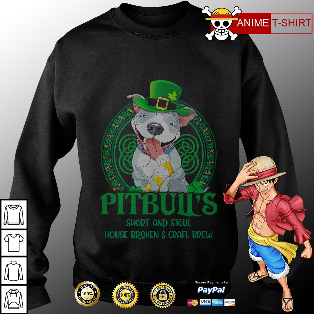 Pitbull's short and stout house broken craft brew sweater