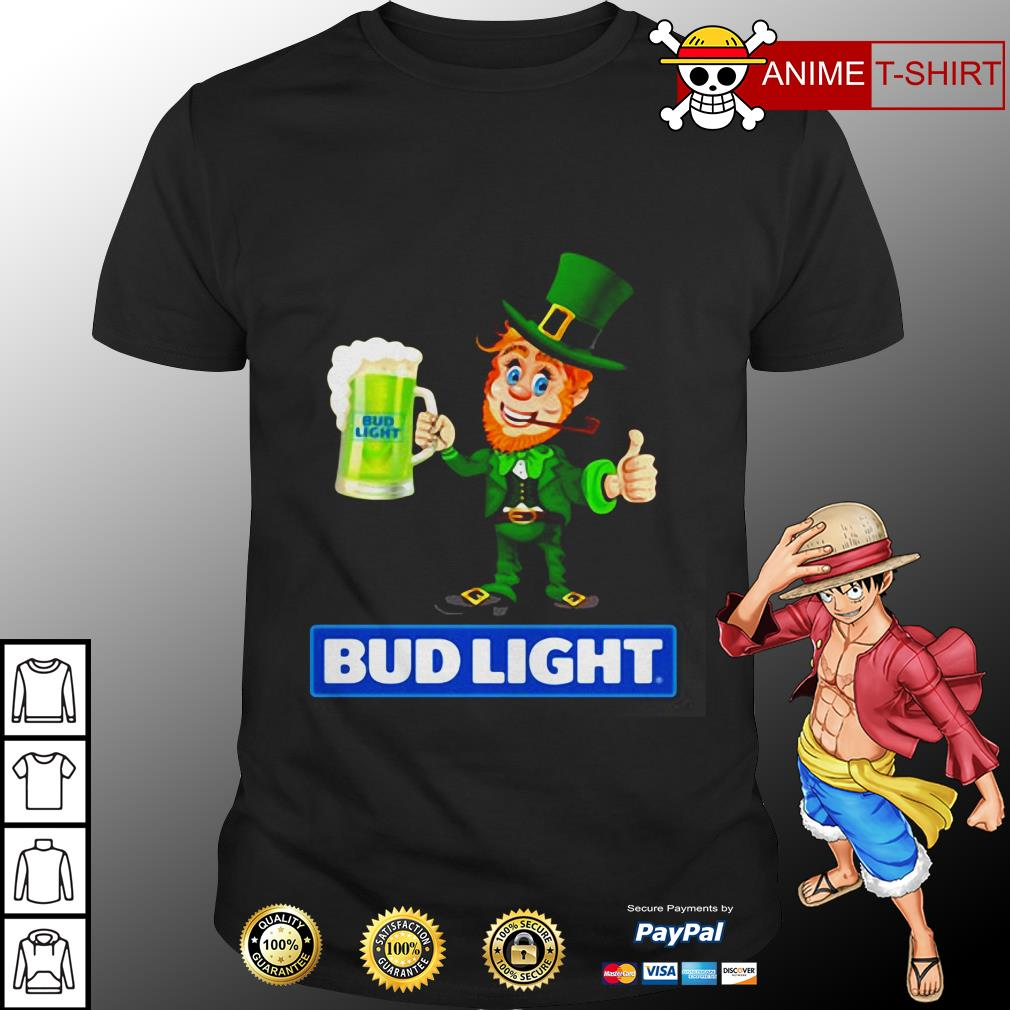 St Patrick's Day Leprechaun Drinking Bud light Shirt