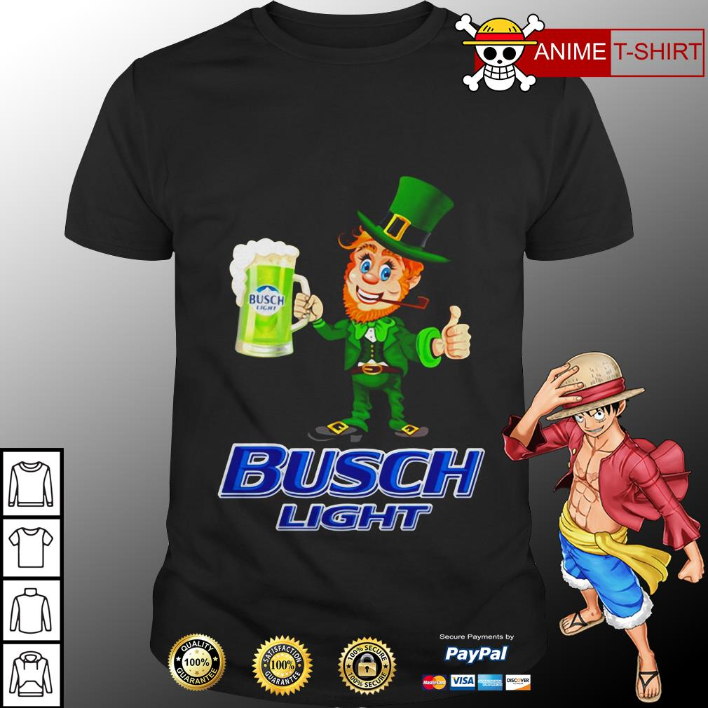 St Patrick's Day Leprechaun Drinking Busch light Shirt