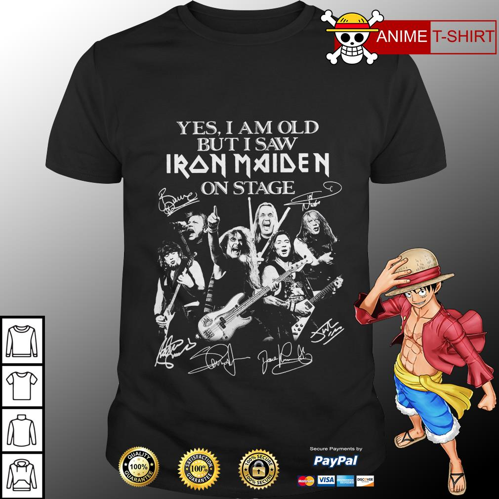 Yes I am old but I saw Iron maiden on stage signature shirt