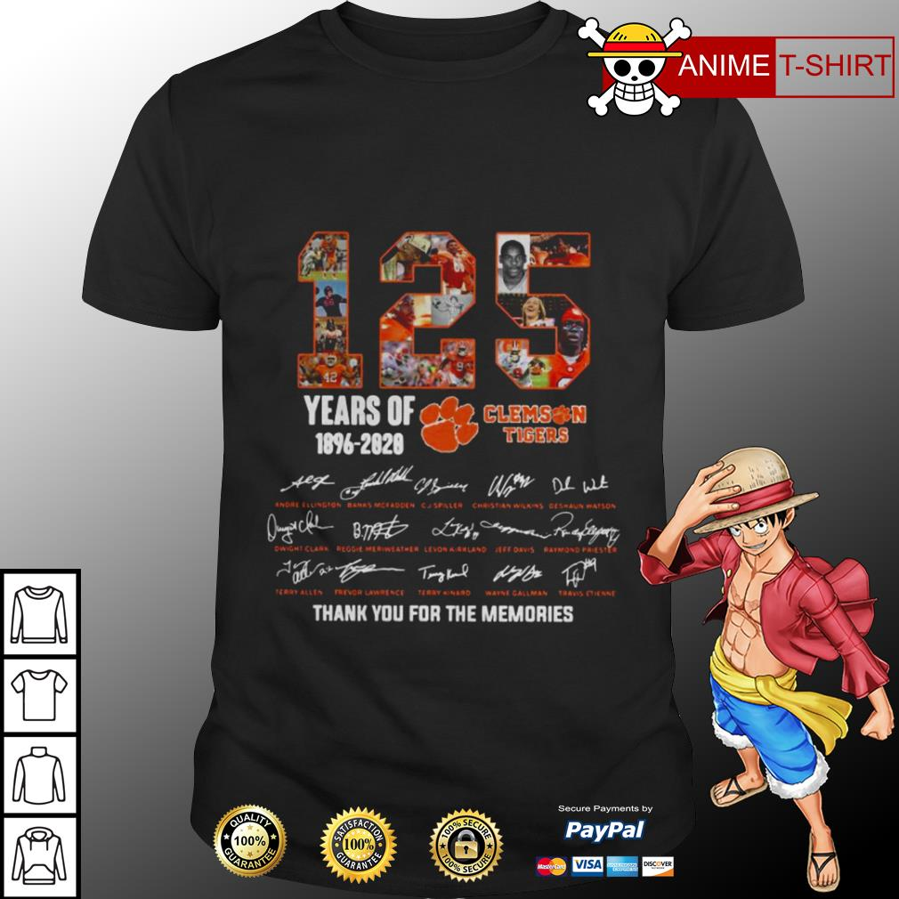 125 years of 1896 2020 Clemson tigers signature shirt