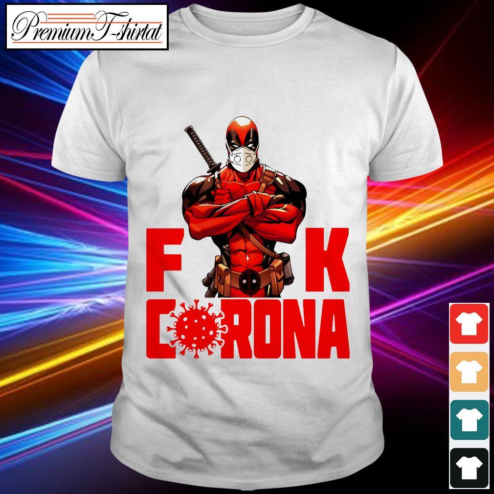 BLACK Deadpool fuck Corona shirt