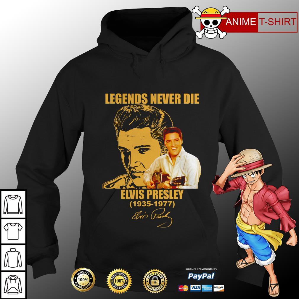 Legends never die elvis presley signature hoodie