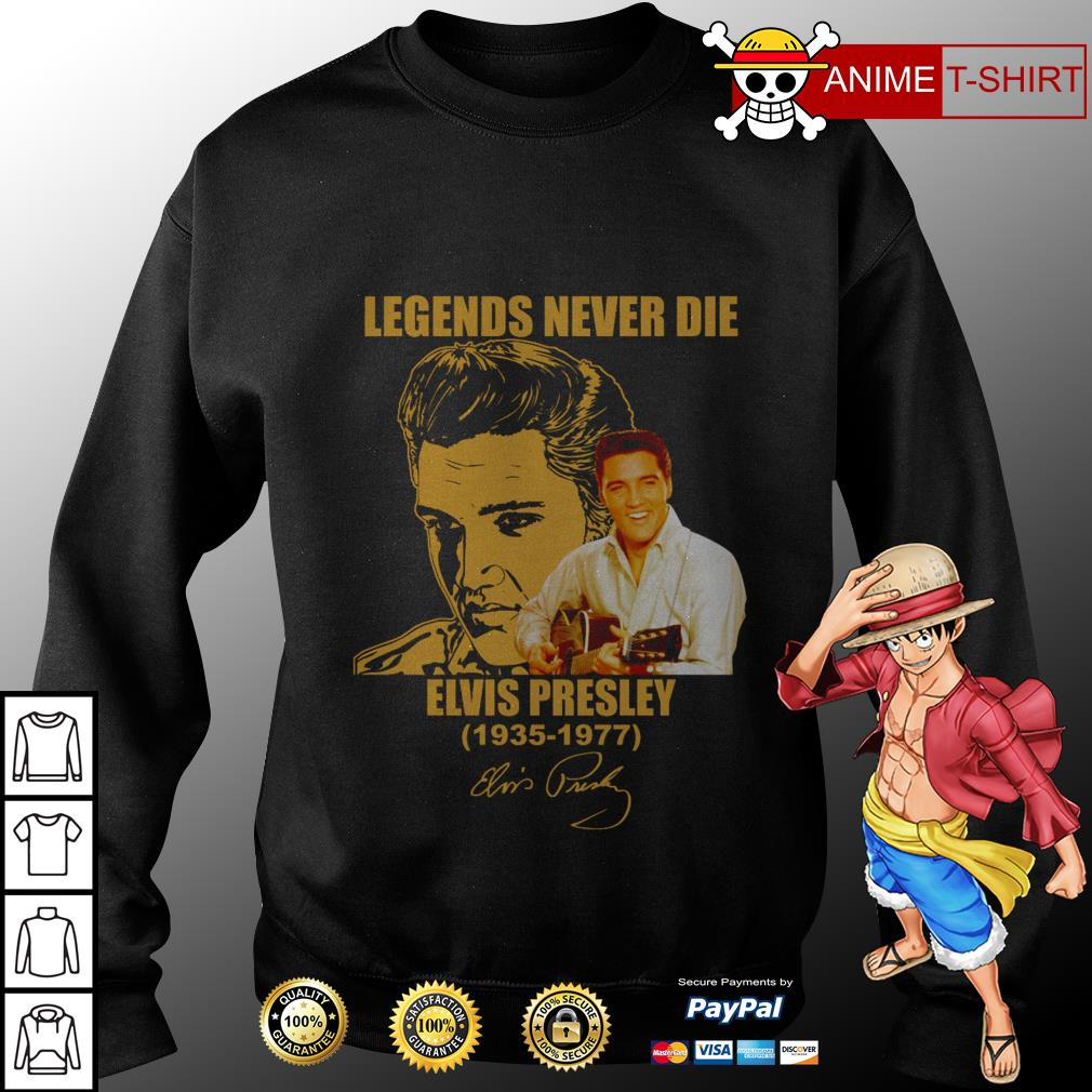 Legends never die elvis presley signature sweater