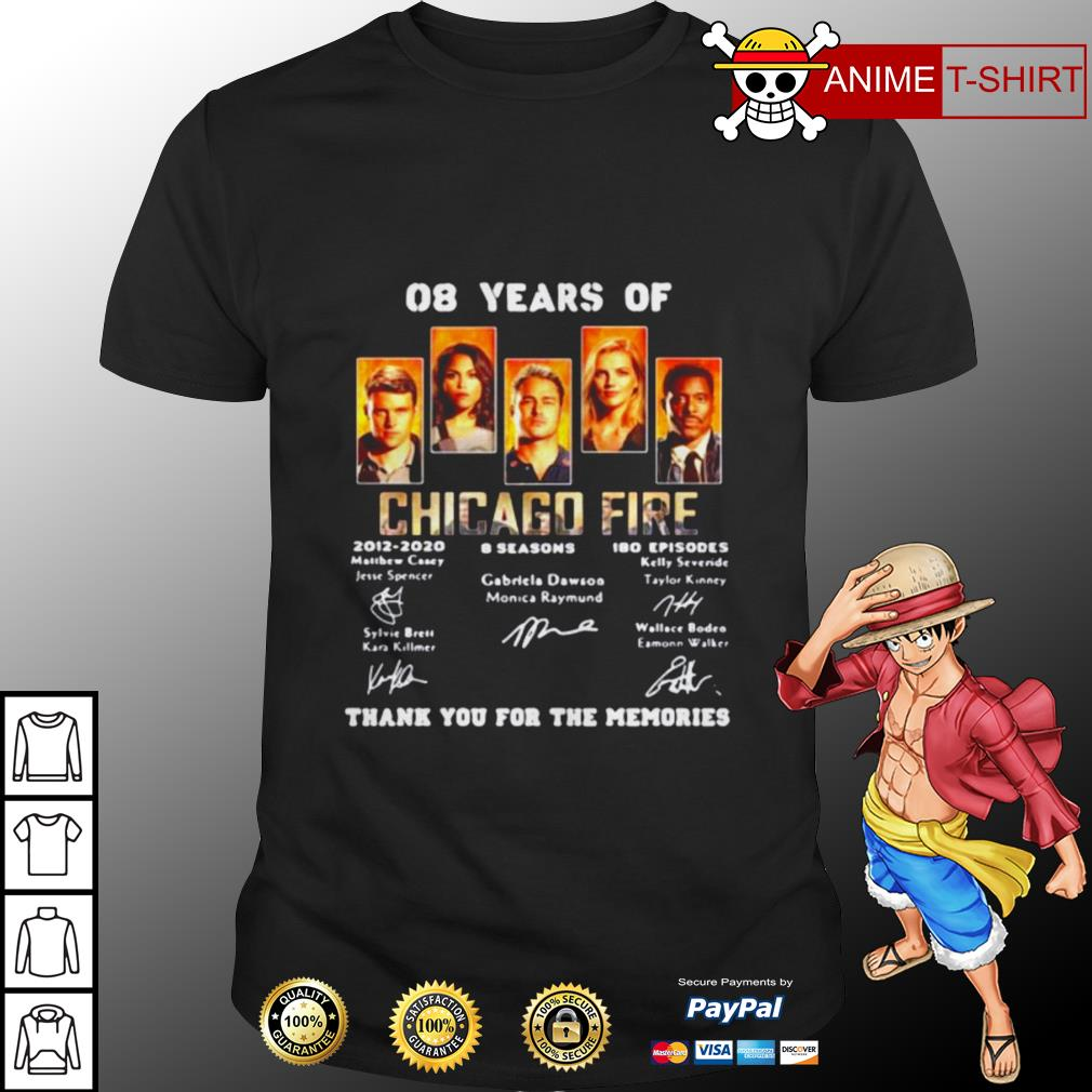 08 years of chicago fire signature shirt