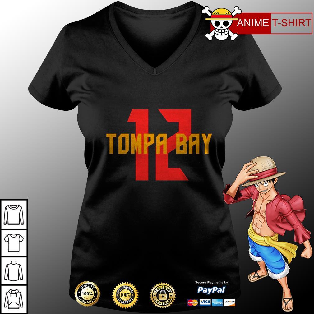 12 tampa bay v-neck t-shirt