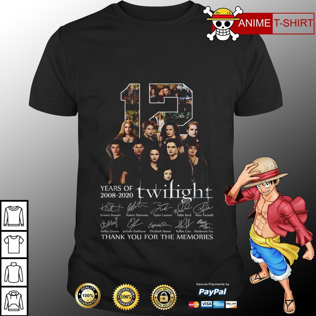 12 Twilight years of 2008 2020 signature shirt