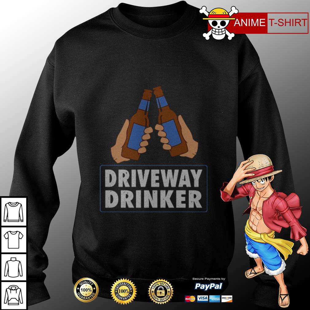 Driveway drinker beer sweater