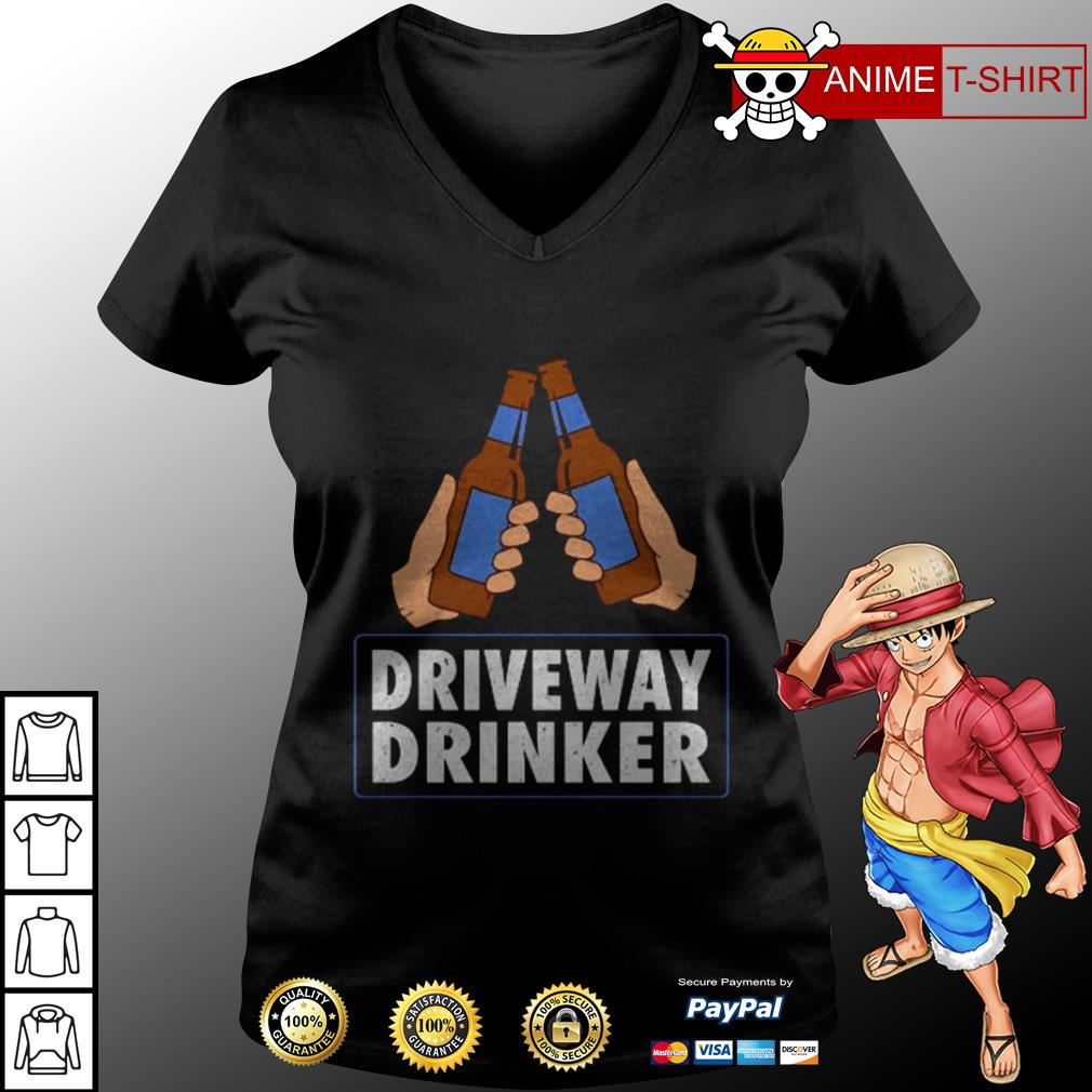 Driveway drinker beer v-neck t-shirt