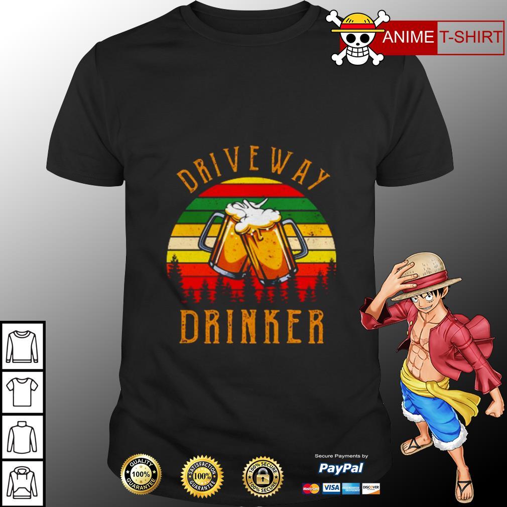 Driveway drinker beer vintage shirt