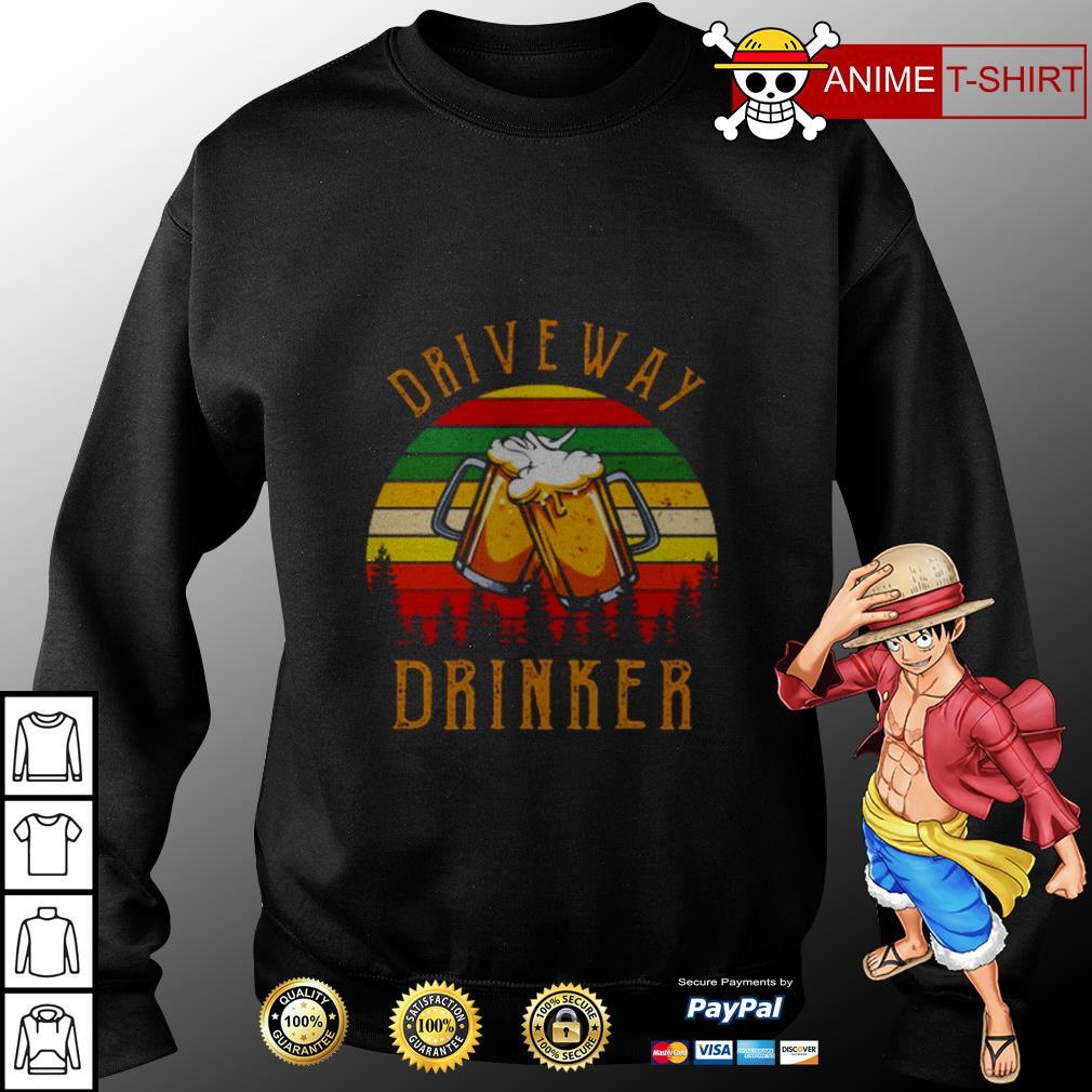 Driveway drinker beer vintage sweater
