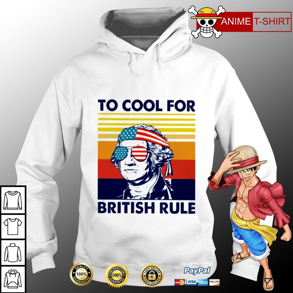 Hamilton too cool for british rule vintage hoodie