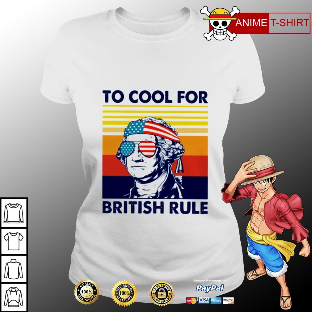 Hamilton too cool for british rule vintage ladies tee