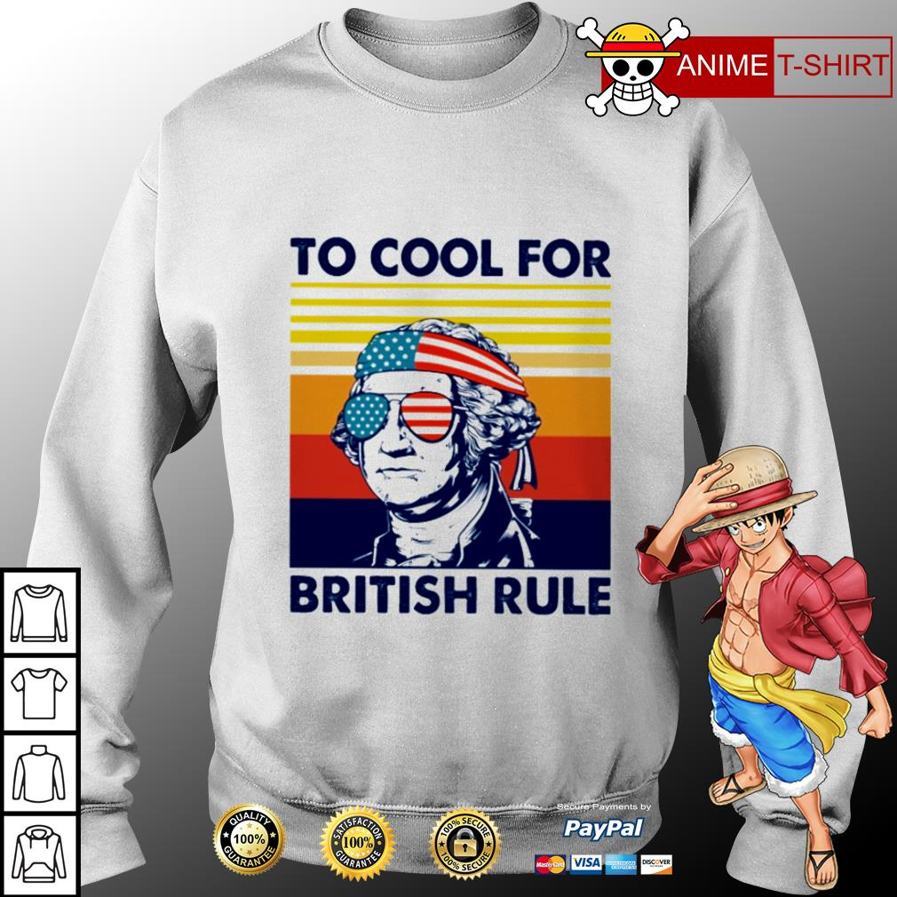 Hamilton too cool for british rule vintage sweater