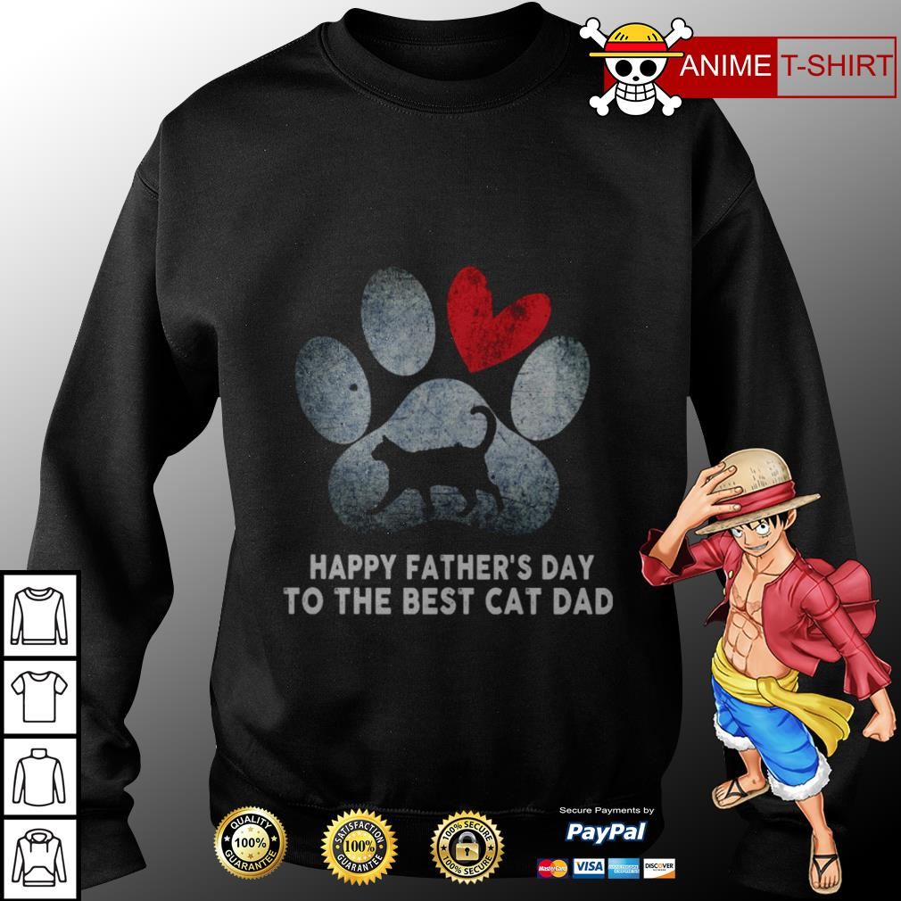 Happy fathers day to the best cat dad sweater
