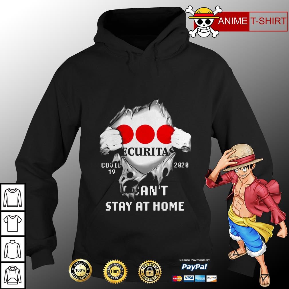 Securitas covid 19 20020 I can't stay at home hoodie