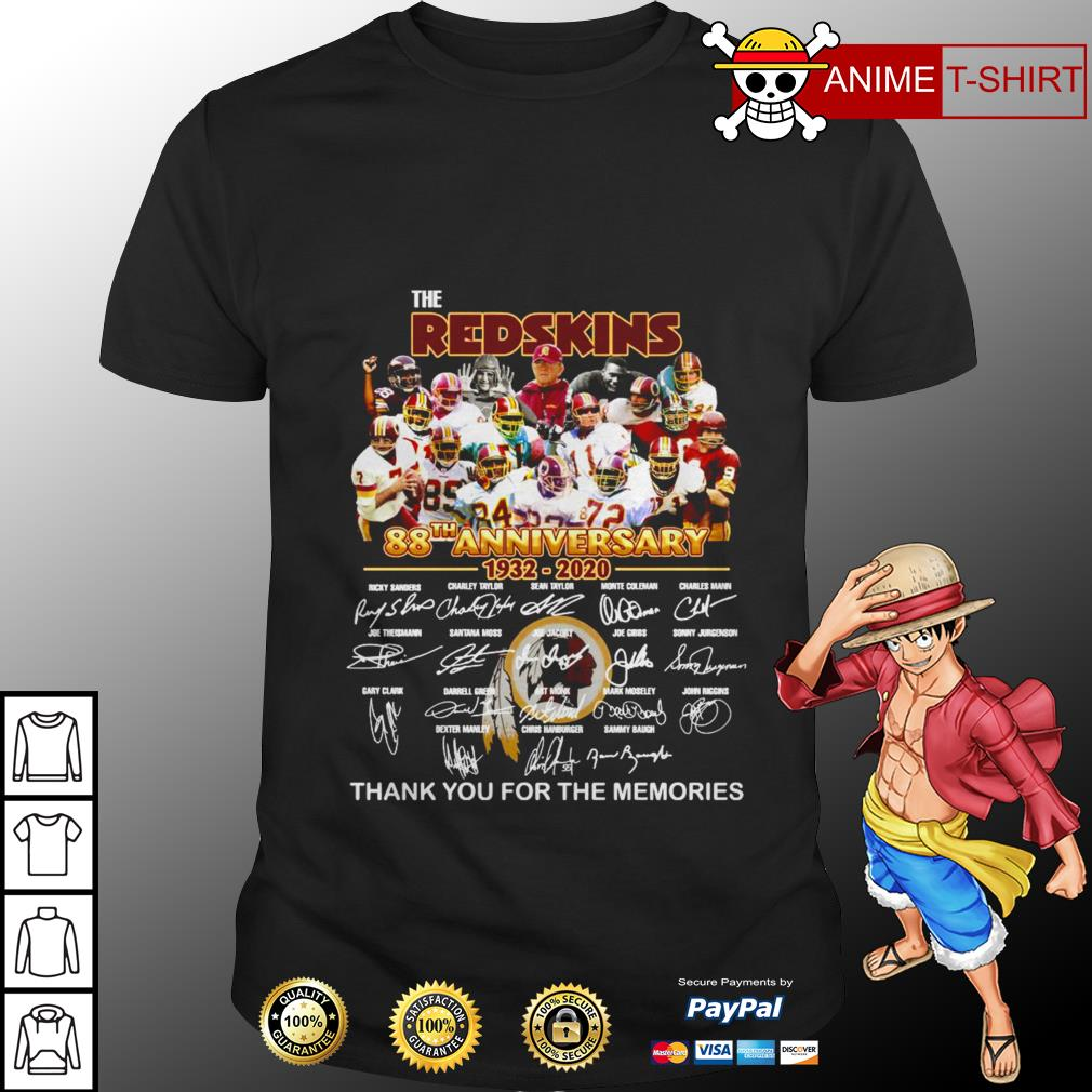 The Redskins 88th anniversary 1932 2020 signature shirt
