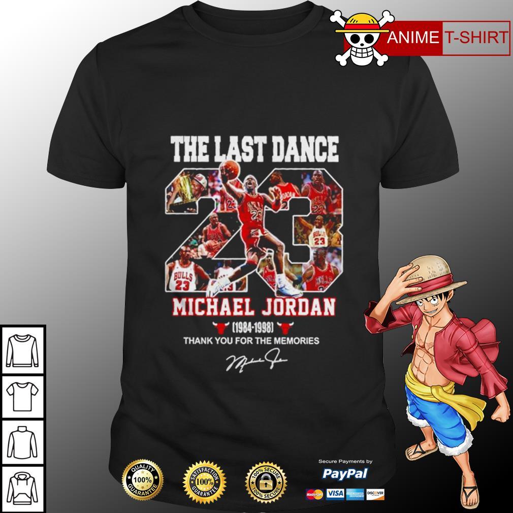 23 The last dance Michael Jordan signature shirt