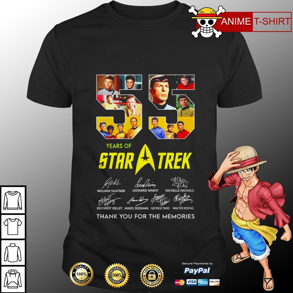 55 years of Star Trek signature shirt