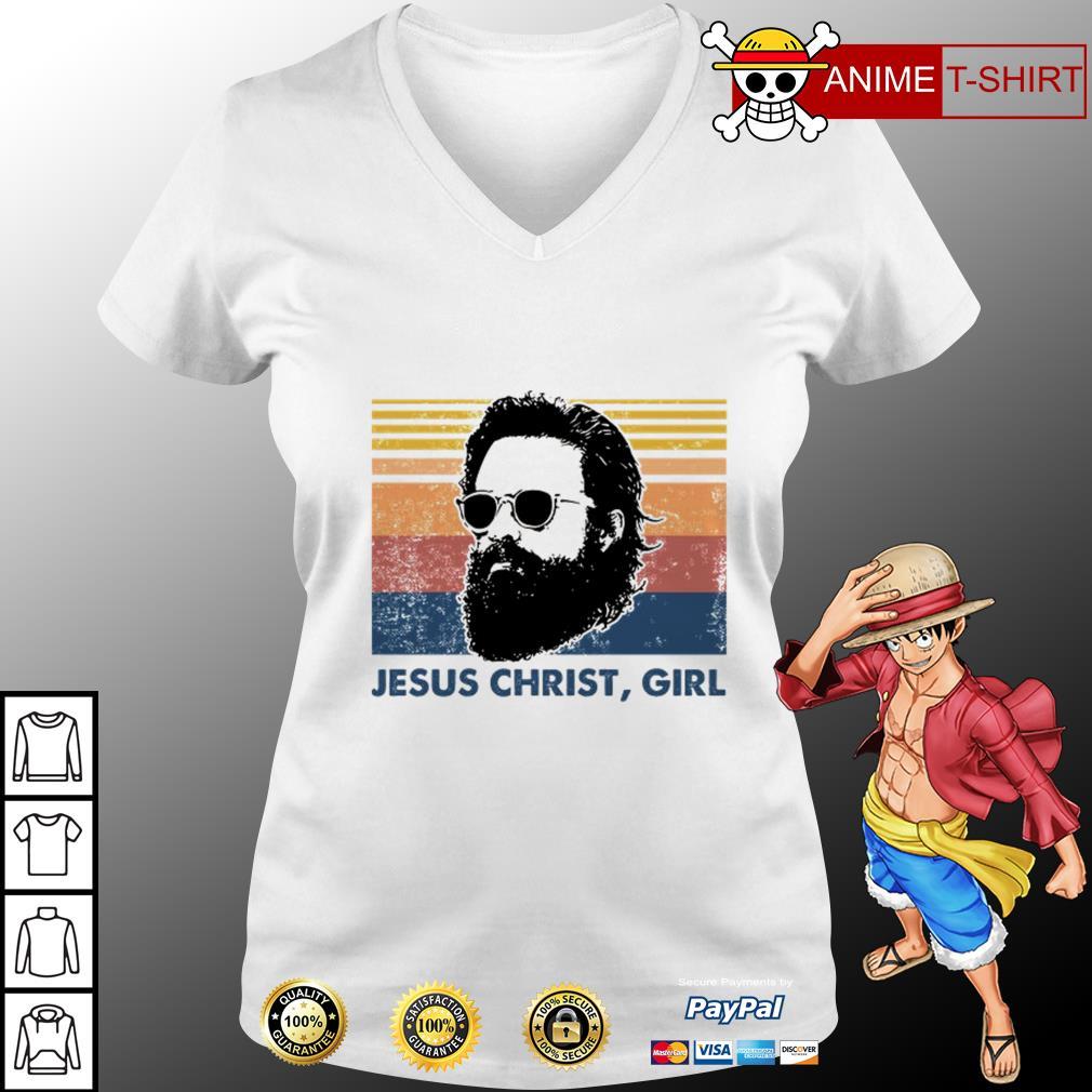 Jesus christ girl vintage V-neck T-shirt