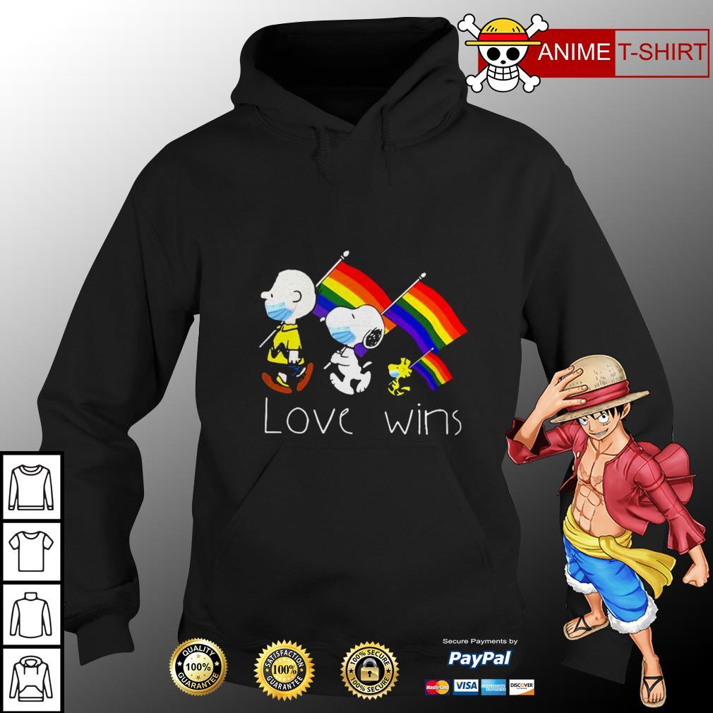 LGBT Snoopy love wins Hoodie