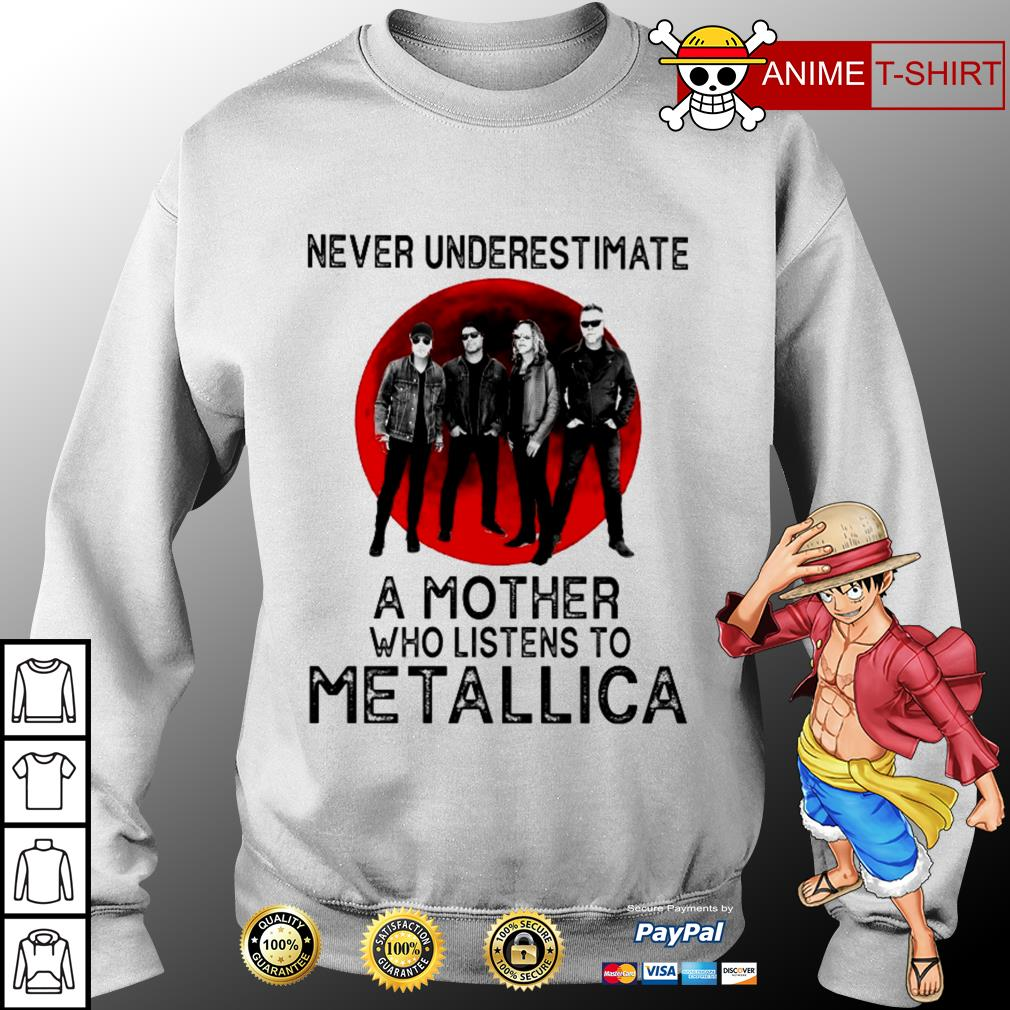 Never underestimate a mother who listens to Metallica Sweater