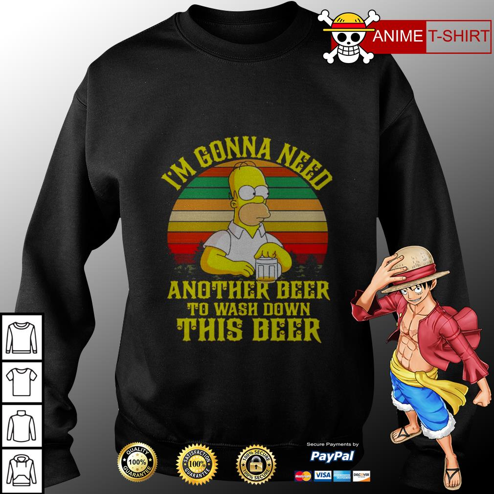 The Simpson I'm gonna need another beer to wash down this beer vintage Sweater