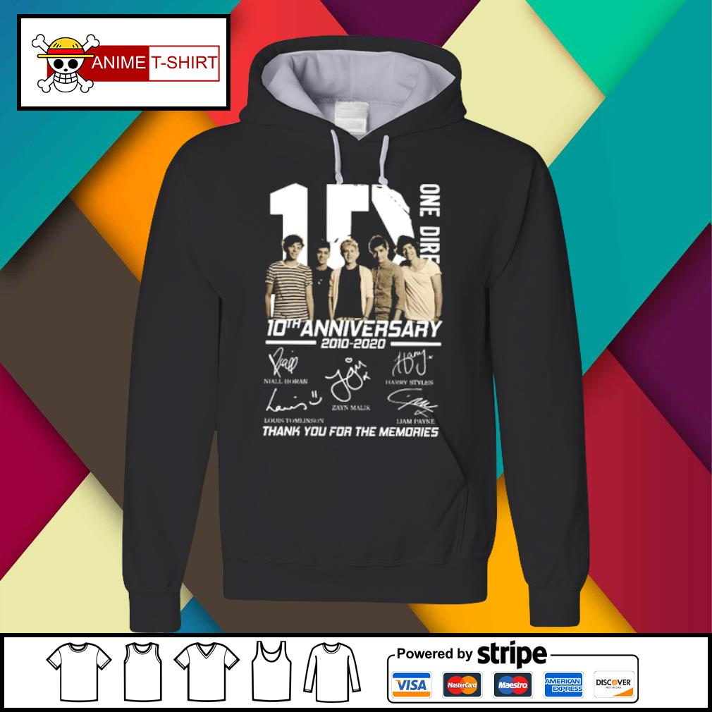 10 One Direction 10th anniversary 2010 2020 signatures s Hoodie