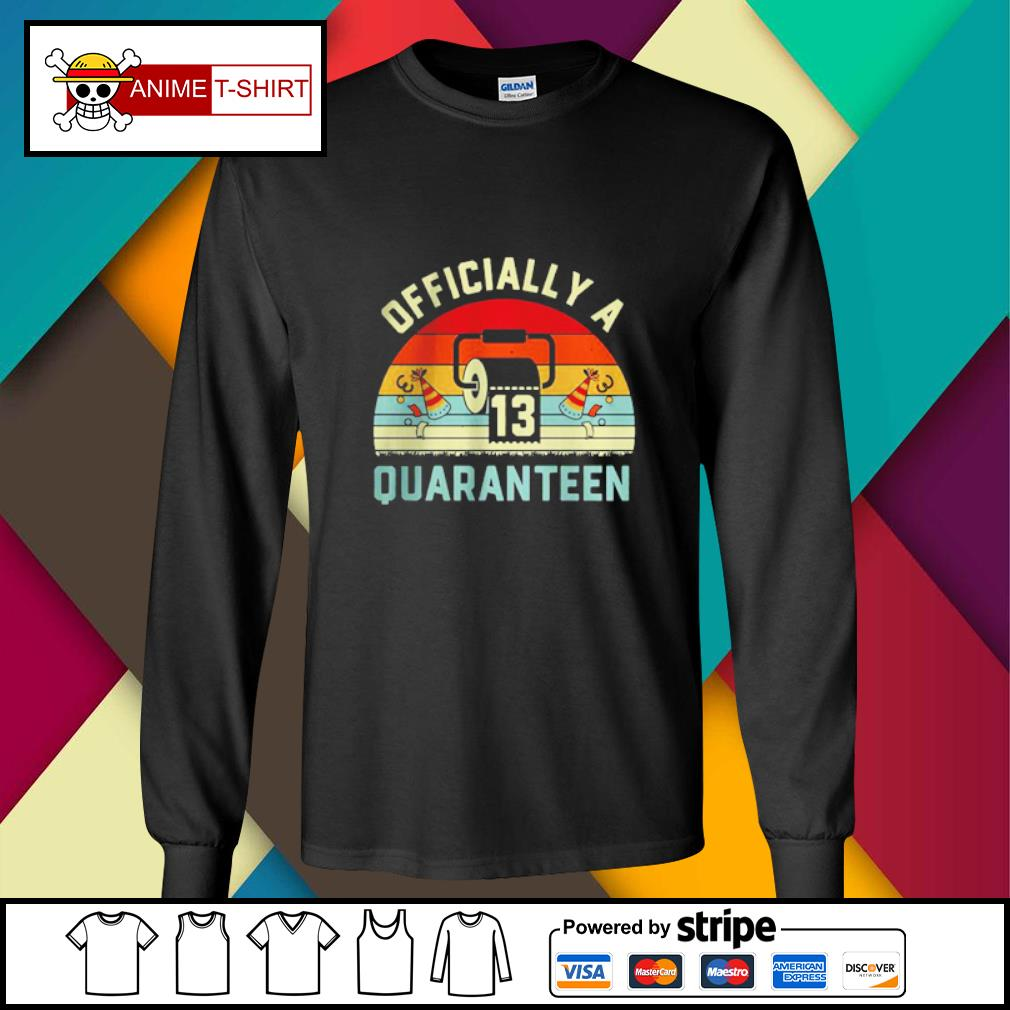 13th Birthday Officially a Quaranteennager 13 Years Old vintage Shirt longsleeve-tee