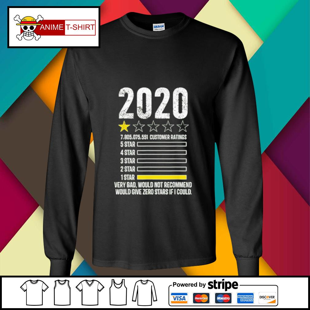 2020 review Very Bad Would Not Recommend 1 star funny Gift s longsleeve-tee