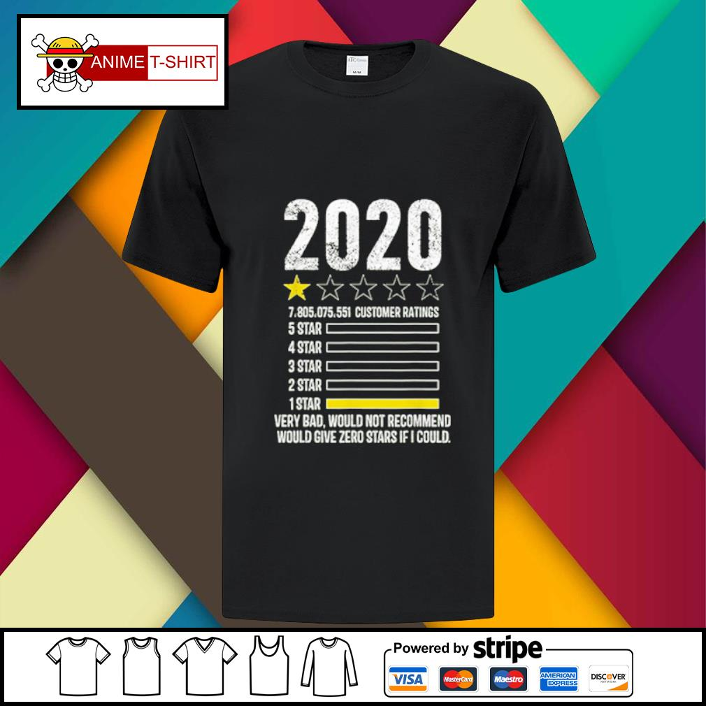2020 review Very Bad Would Not Recommend 1 star funny Gift shirt