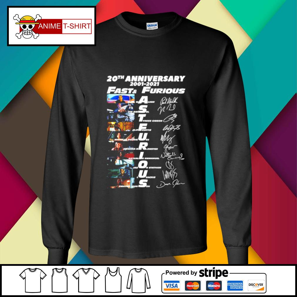 20th anniversary 2001 2021 Fast and furious signature s longsleeve-tee