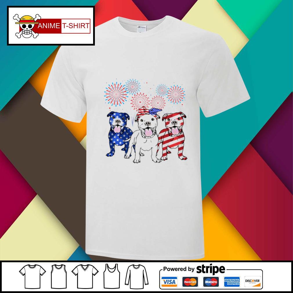 3 Pitbull Patriots American shirt