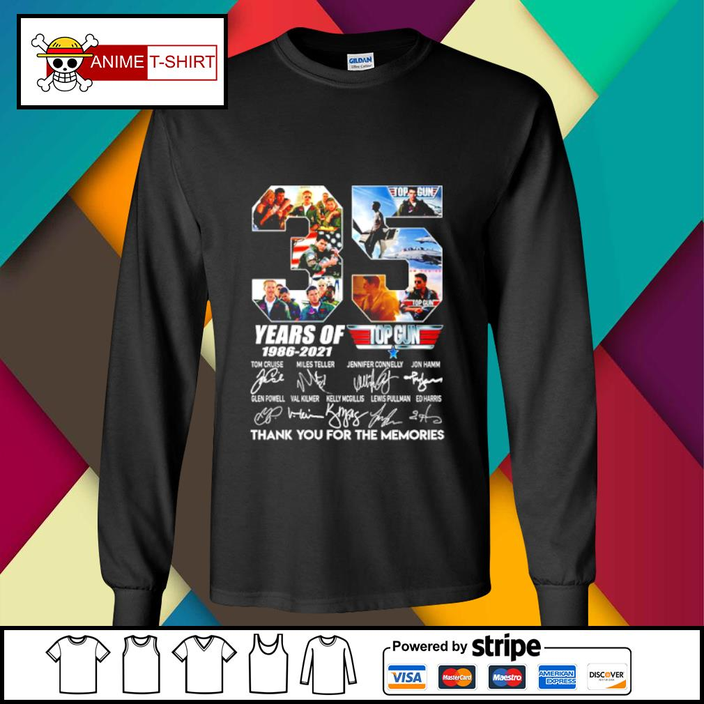 35 years of 1986 2021 Top gun thank you for the memories signature s longsleeve-tee
