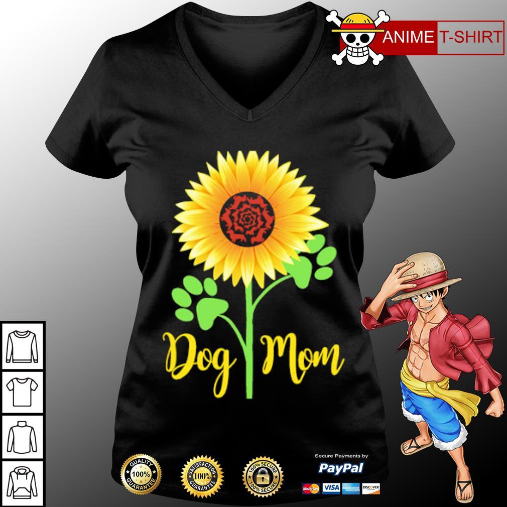 Dachshund Sunflower dog mom s v-neck-t-shirt