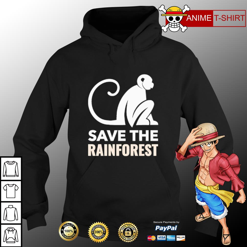Monkey save the rainforest s hoodie