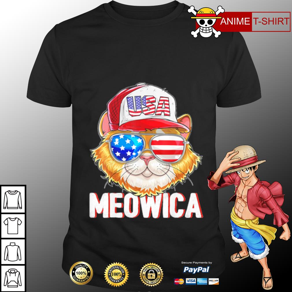USA Cat Meowica Independence Day 4th Of July shirt