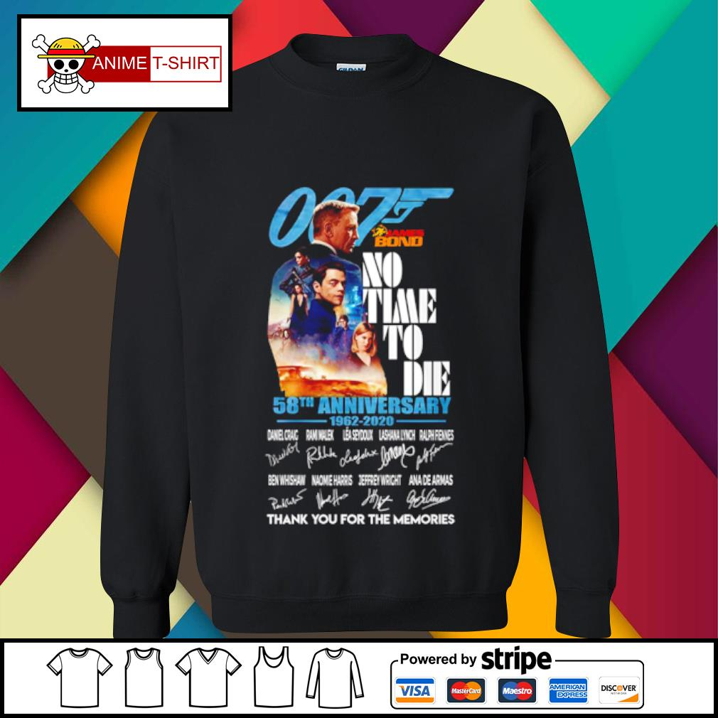 007 James bond no time to die 58th anniversary 1962 2020 signature s sweater